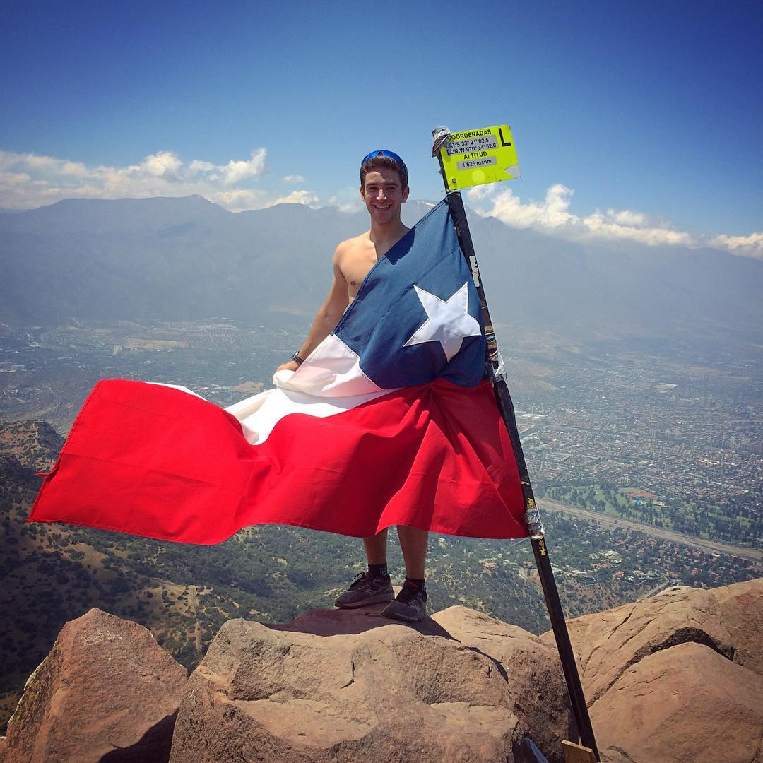 Chile has grown on me. #cerromanquehue #naked?