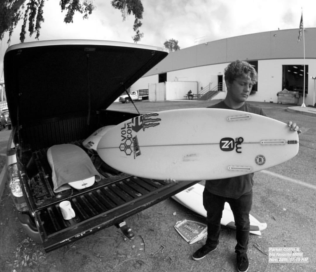 Quiver check with @parkercoffin dropping some knowledge on us with @cisurfboards. North swell killer on tap. #SeaSnakes #VonZipper #SupportWildLife