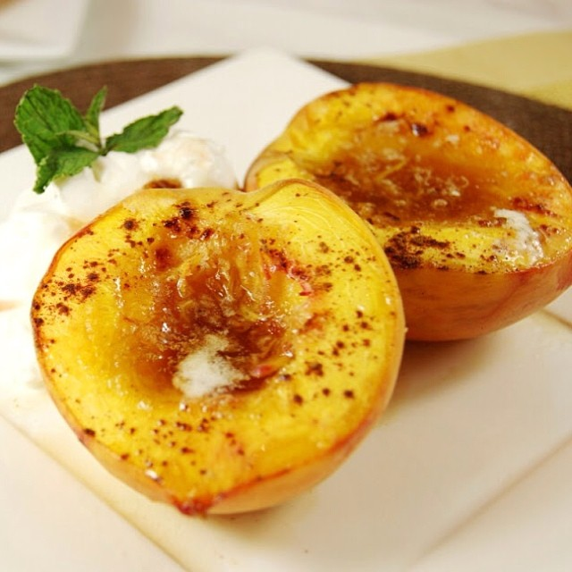 TASTY TUESDAYS // Brown Sugar Baked Peaches There's just not much better than a fresh-from-the-orchard peach...unless it's a fresh-from-the-orchard baked peach.  With brown sugar and a touch of cinnamon sprinkled on top.  We could eat peaches straight...