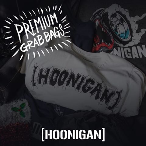 PREMIUM GRAB BAGS: Over $100 of goods for under $50! Hoodies, tees, raglans and accessories. #HooniganBlackFriday got sales throughout Cyber Monday. We got you on FREE domestic SHIPPING on all order so you can come back for more each day!
