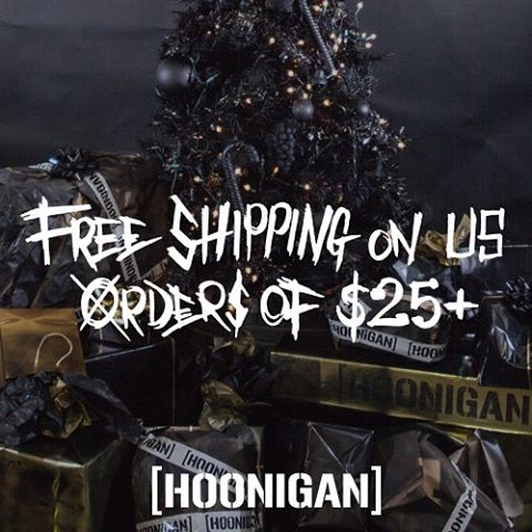 While you're stuffing your face with food, stuff your cart with #HNGN. Now through Cyber Monday orders in the continental USA get FREE SHIPPING. #HooniganBlackFriday #sorryworld