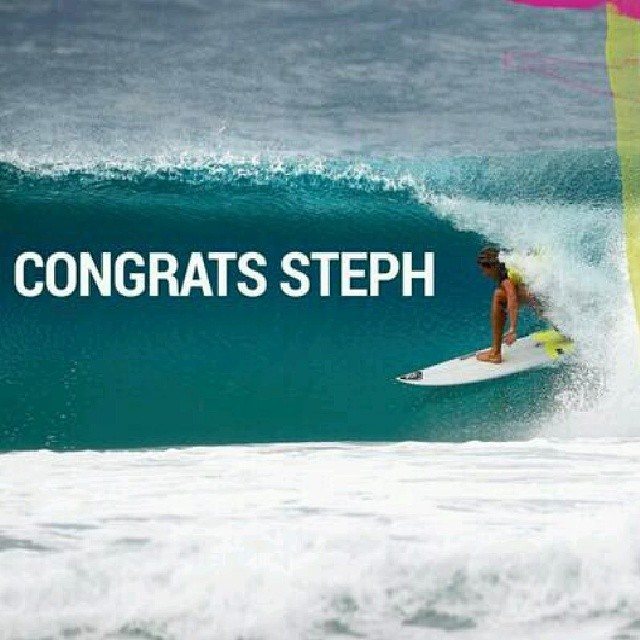 Congrats to Stephanie Gilmore for winning the #roxypro