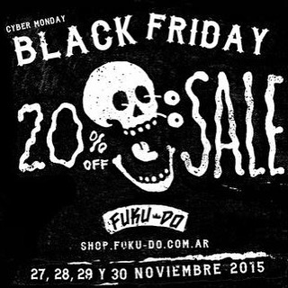 #blackfriday Fuku-do 20%OFF. Viernes 27, 28, 29 y 30 de Noviembre. http://shop.fuku-do.com.ar