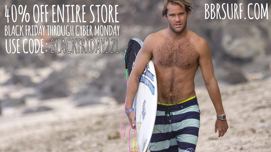 40% off our entire store from Black Friday to Cyber Monday.  Use Code: blackfriday221 Go to www.bbrsurf.com. Happy Thanksgiving. #blackfriday #blackfridaysale #cybermonday #40% #code #blackfriday221 #happythanksgiving #bbr #bbrsurf #bbrsurfwear...