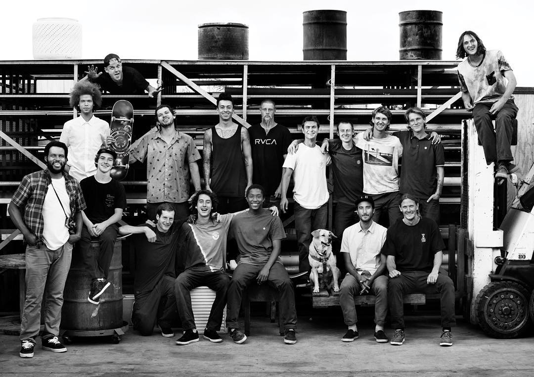 we give thanks for the whole element team, we couldn't ask for a greater group to bring progress and positivity to skateboarding and those around us >>> thank you! @nyjah @mark_appleyard @westgatebrandon @nick_garcia @_julian_davidson @starheadbody...