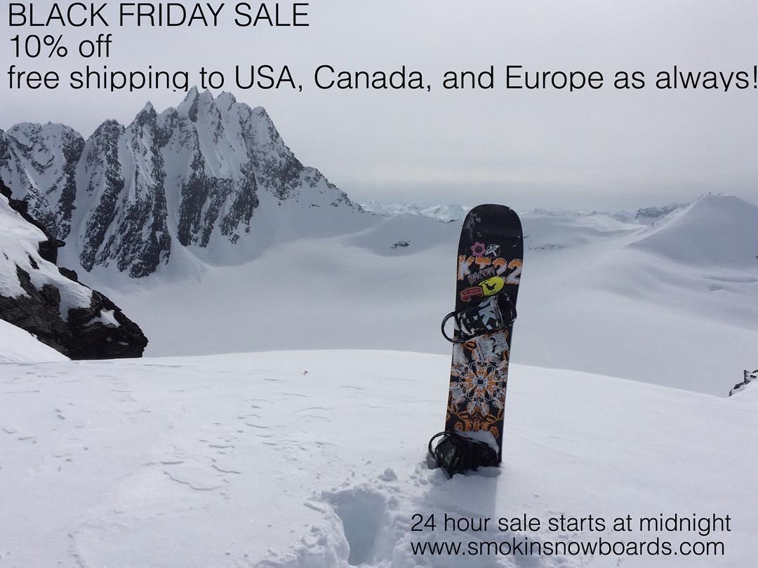 Black Friday Sale at www.smokinsnowboards.com (link in bio) is on. 10% OFF , and, as always #freeshippingtoNorthAmericaandEurope  #weareOK | #ForRidersByRiders | #handmadeUSA