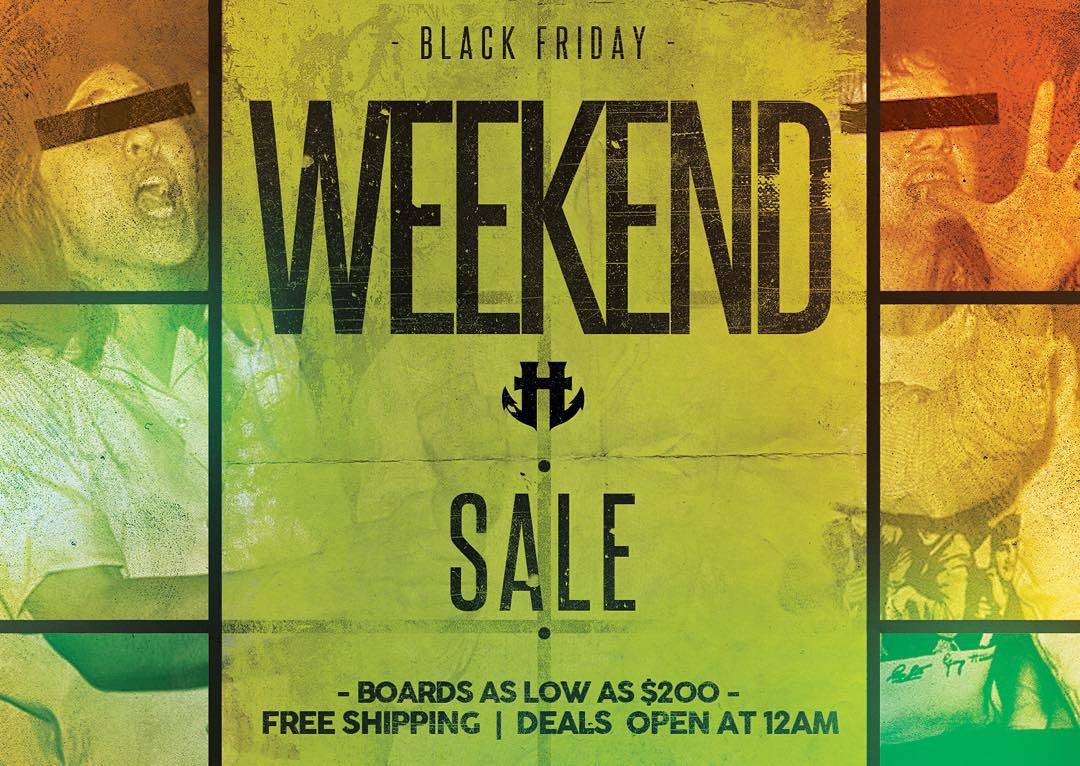Our Black Friday weekend sale is live. Grab yourself or a lucky friend a new board and boots. It's our best prices of the year. #humanoidwake