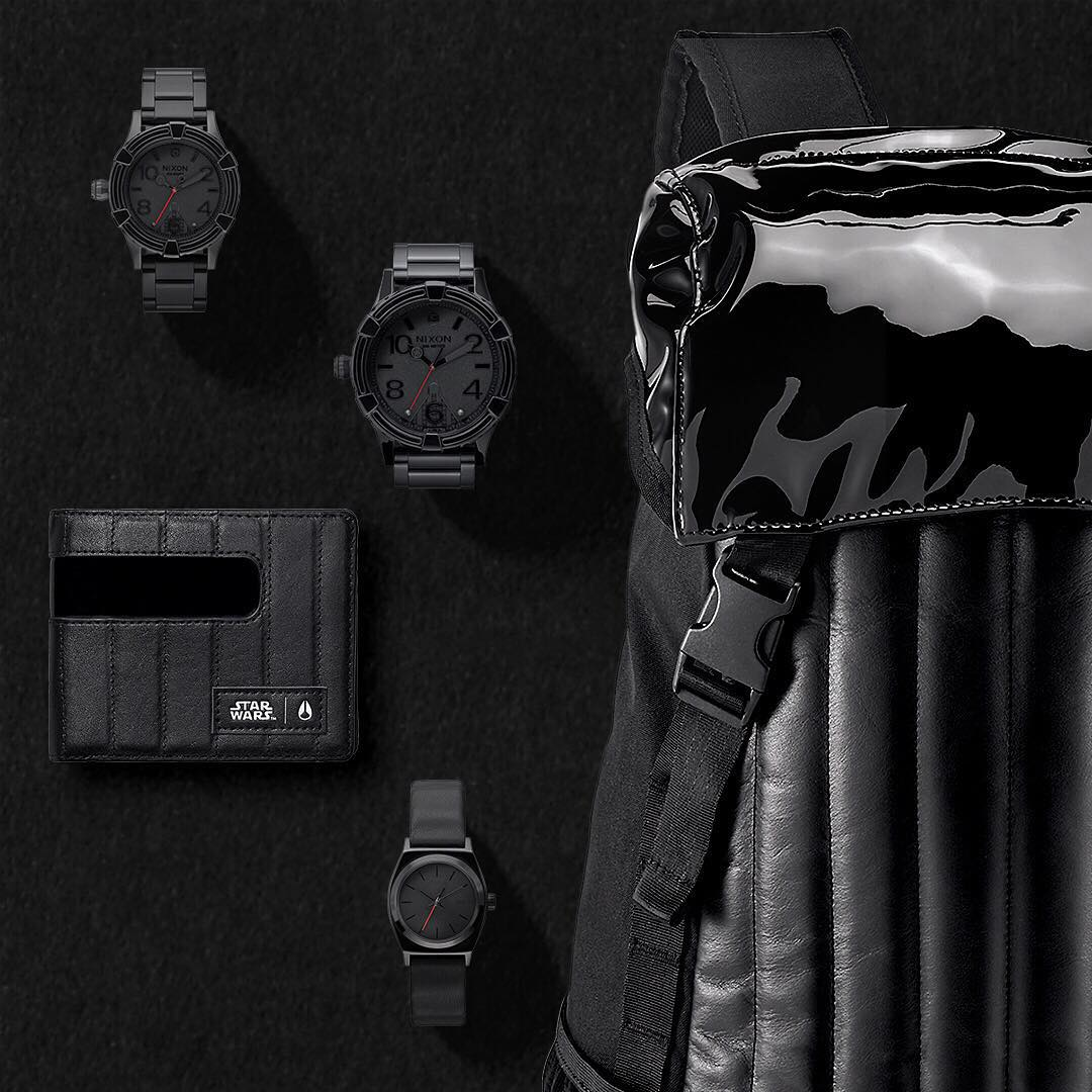 Come to the Dark Side. The complete #DarthVader @starwars | #Nixon collection of watches and accessories available now. #StarWars #TheForceAwakens