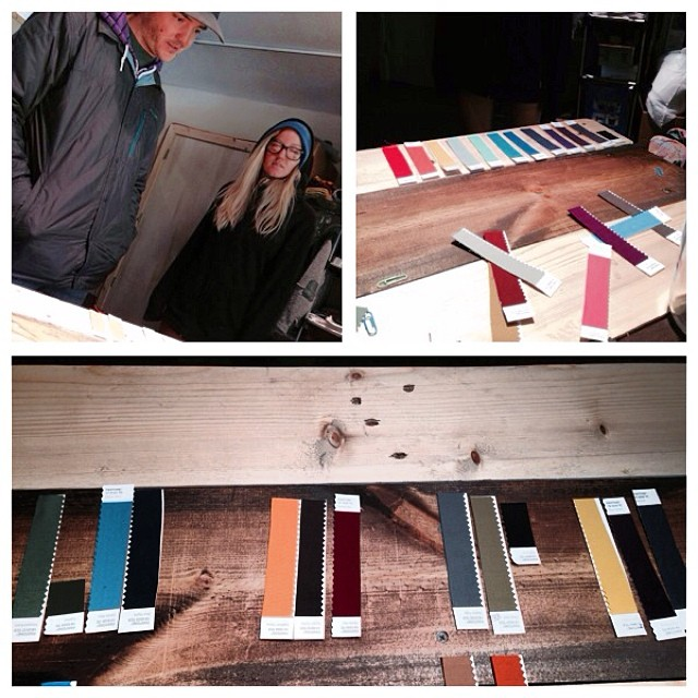 The dream team, FlylowGreg and BritW making 2015 colors come to life at The Mill.