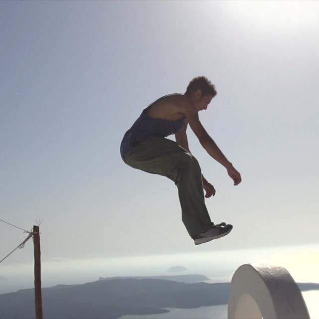 Those who don't jump will never fly #ArtOfMotion #freerunning #Greece
