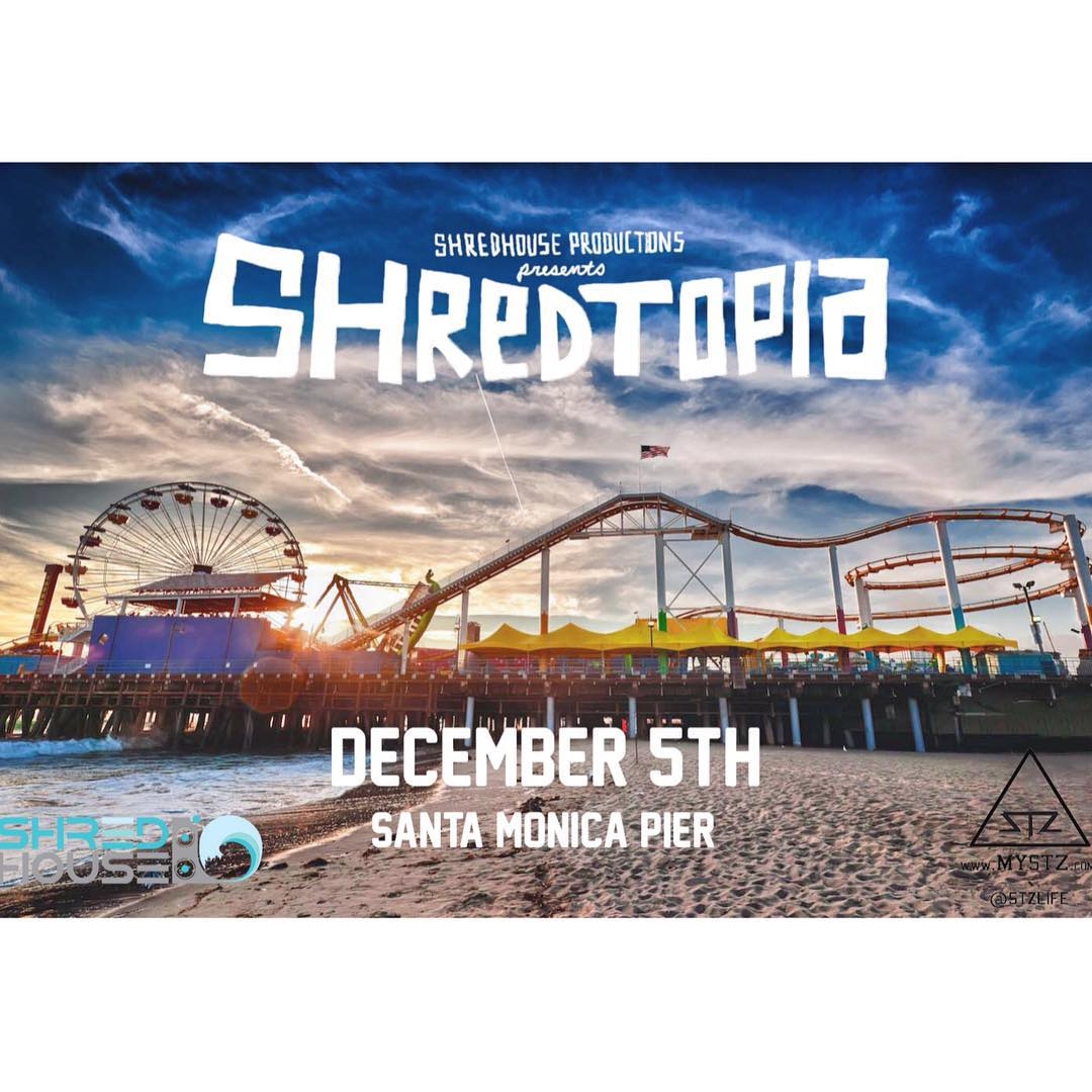 Next week we are heading to Cali for @shredtopiafest | stoked to get out to the left coast for a rad event. Spread the word and tag a friend that should come. | #skate #stzlife #skateboard #california #santamonicapier #cali #leftcoast #skatecomp...