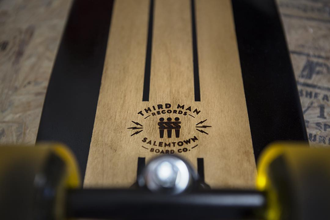Another shot of the collab board we did with @thirdmanrecordsofficial Super stoked on how they came out. Check their store to see if any are left. #thirdmanrecords #skate #skateboard #jackwhite #cruiserboard #cruiser #longboard