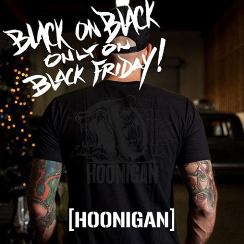 Black on Black Creature of the Hoon! Still a few left! We made these specifically for the #HooniganBlackFriday weekend and once they're gone, they're gone!