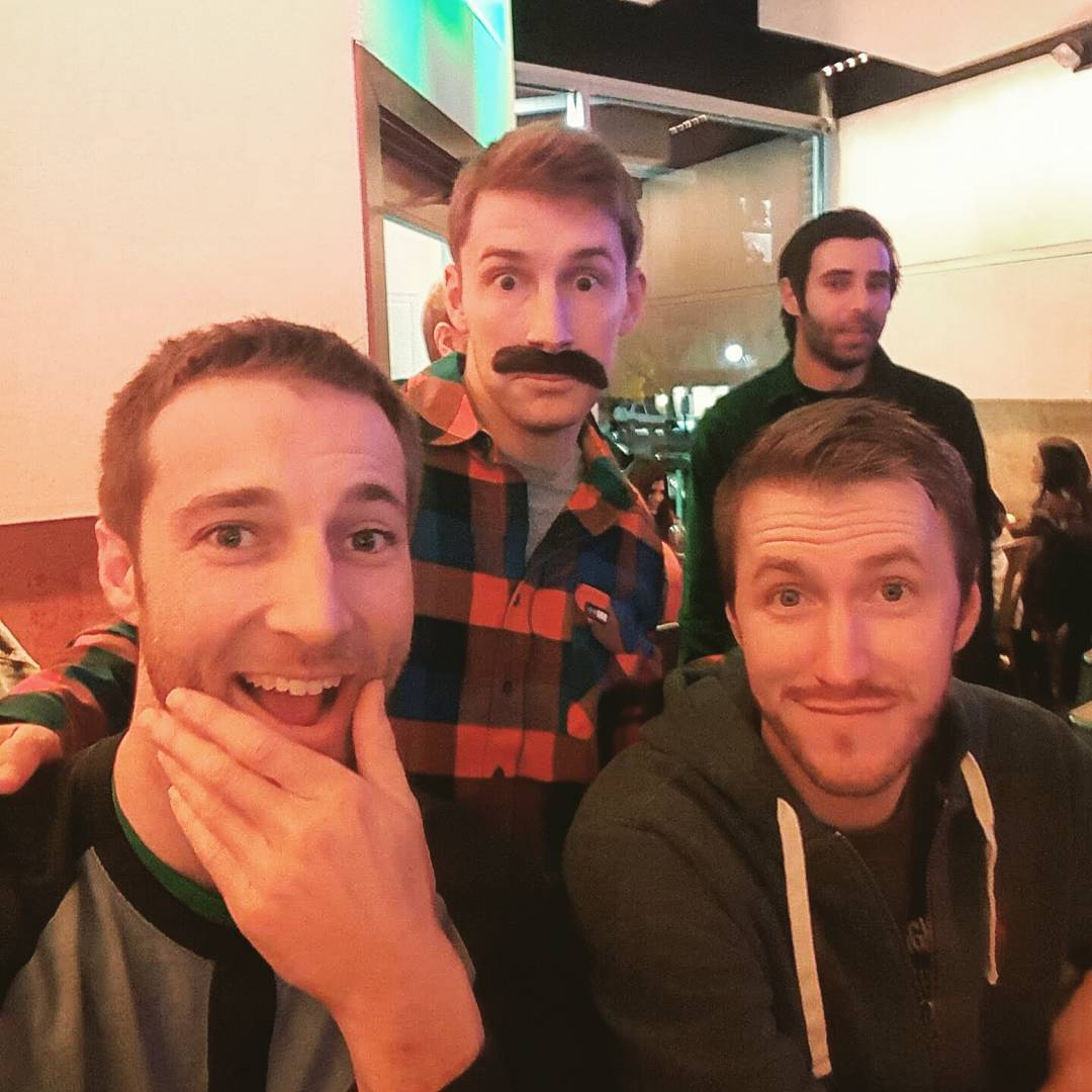 I mustache you a question.. Happy Birthday to Grassracks co-founders Evan and Andrew (and friend Chad). Both have now successfully made it to their 30s in style.  #saturday #holidays #grassracks #mustache #birthday #thanksgiving #friends #work #startup...