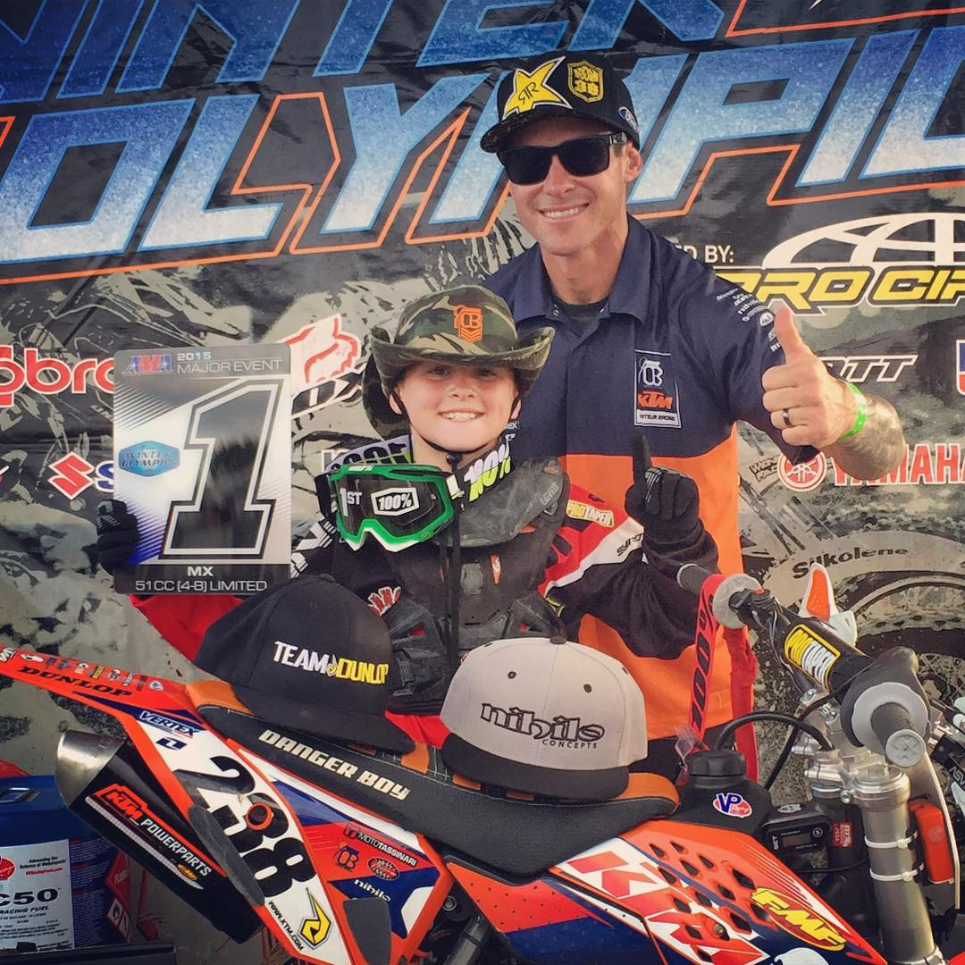 Pumped on @dangerboydeegan for taking home the win and championship in his last race on his @ktmusa 50