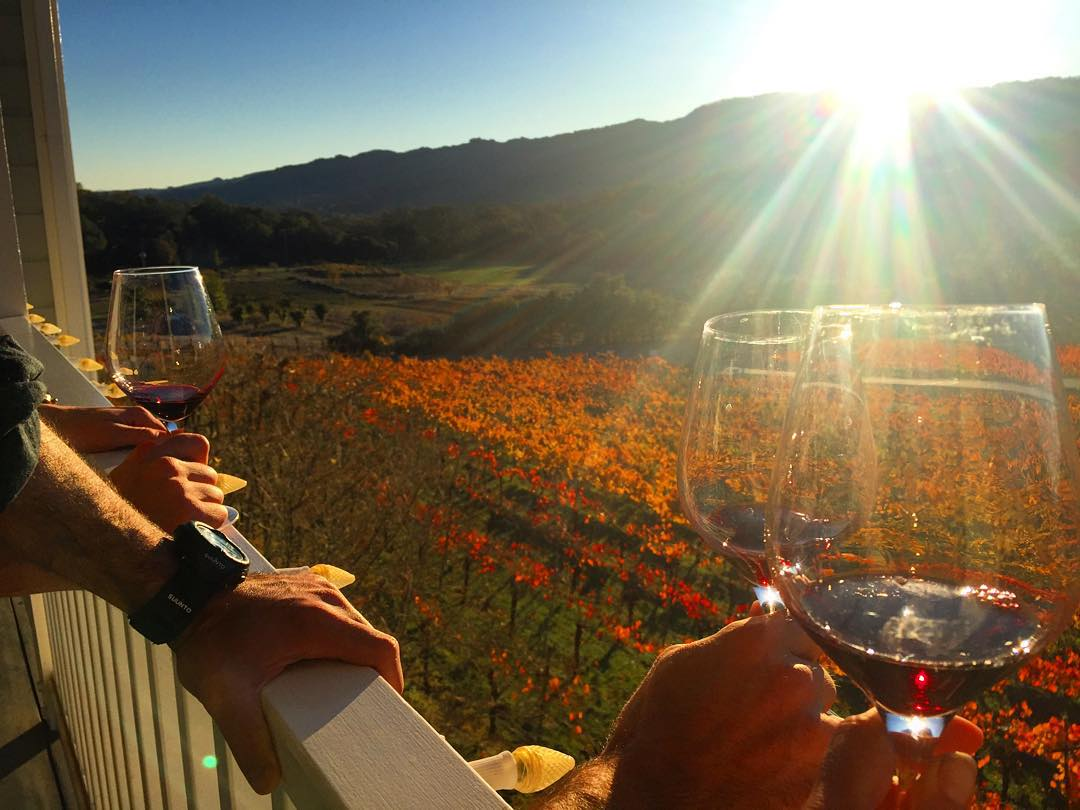 Those Fall Colors Tho #winetasting #sonoma #cheers #thanksgiving #sunset #sunsetchaser