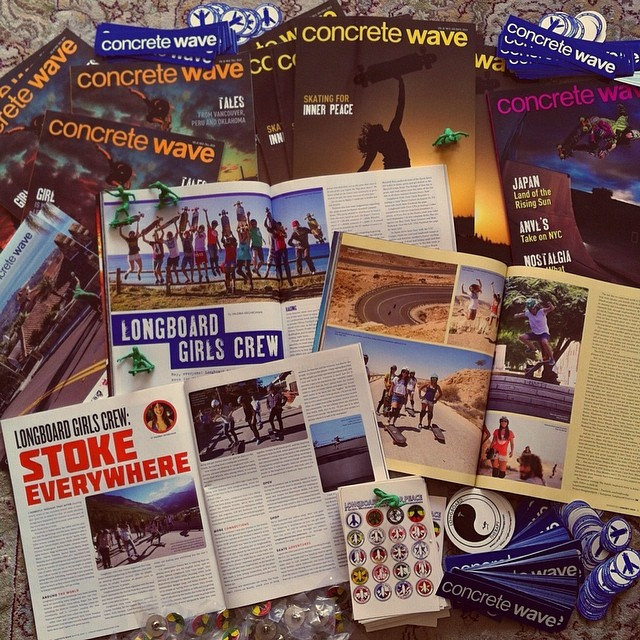 The postman just delivered a @concretewavemag swag package from Canada with the latest issues of the magazine and our #longboardgirlscrew articles in them written by @valeriakechichian with the latest news on the worldwide female longboard scene. Check...