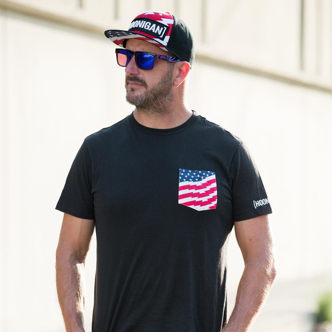 Hoonigan stars and stripes gear is now available at @Zumiez stores! These sold out quick online at #HooniganDOTcom, so pick yours up while they're still around. #hngnatzumiez