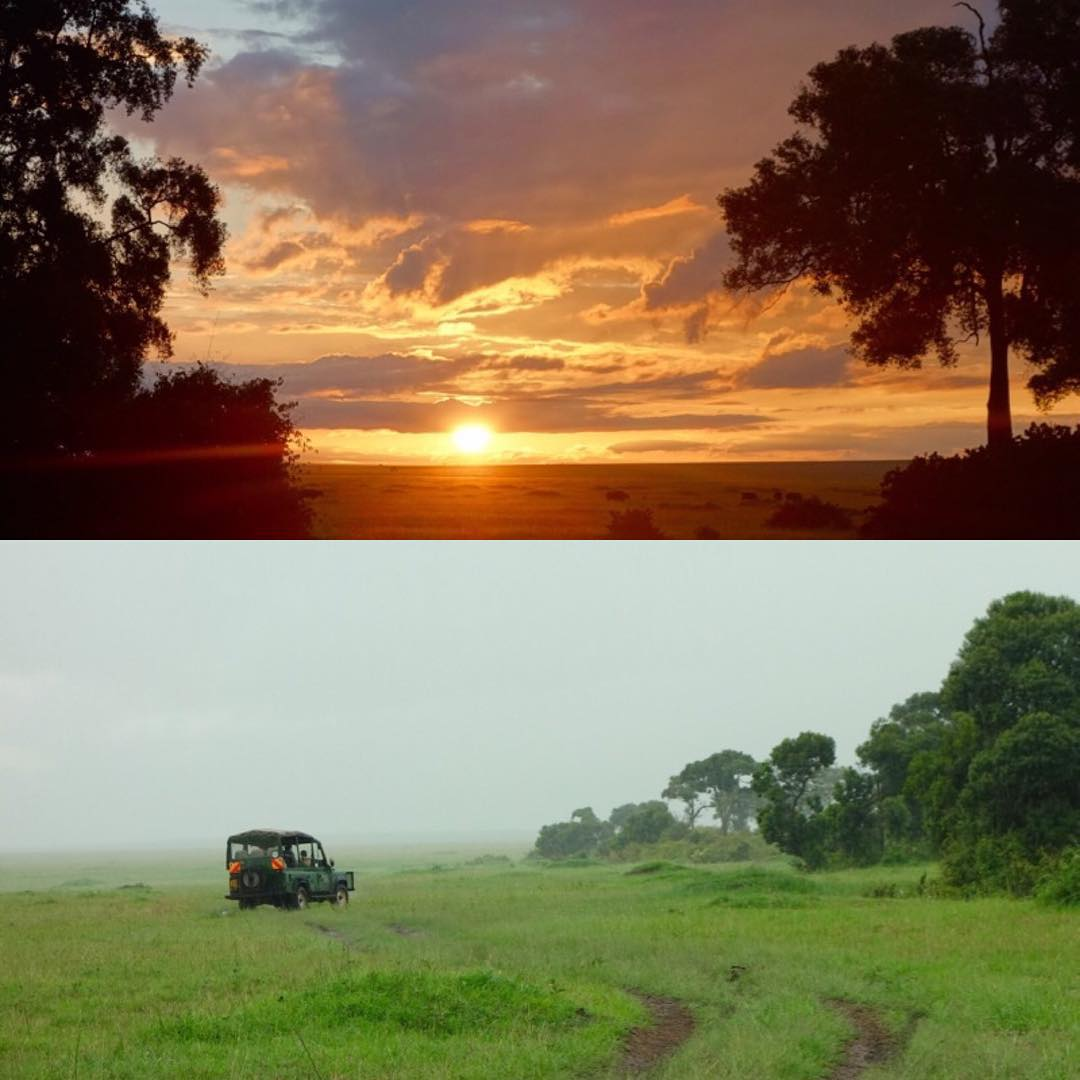 "Sunrise and rain yesterday here on the Masai Mara and Governors Camp. My wife and kids have really loved the game drives everyday. Although I would prefer jumping the safari vehicle. Yeah, I'm ""that guy"". Ha. #safarisquad #snorkletime? #GovenorsCamp..."