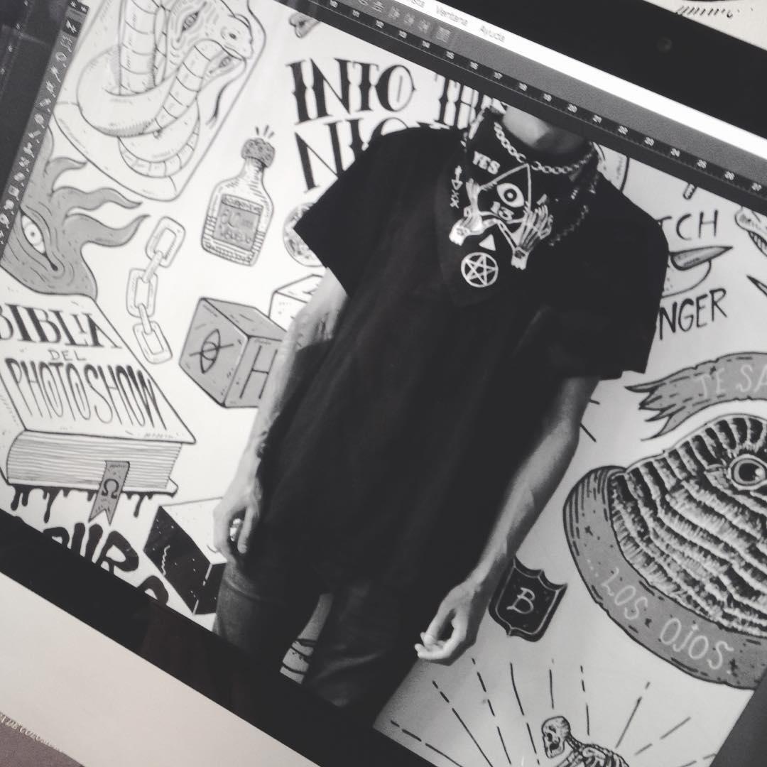DARK BOYZ #bandana #photo #byn #dark #ouija #magic #black #fashion #cool #design