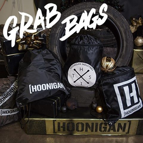 Two types of Hoonigan grab bags, all kinds of insane deals - while supplies last! These are moving quick, so head over to #HooniganDOTcom for more details. #hooniganblackfriday