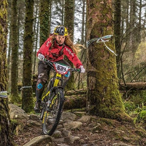 Great shot of UK adventurist @traharn who made it onto the podium at this weekends final Welsh Gravity Enduro in our #EvoAM Helmet. Nice one!! #661protection #sixsixone #661 #ProtectFun