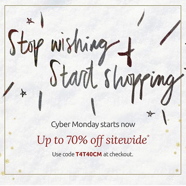 Stop wishing & start shopping — Cyber Monday is here!! #cybermonday #sales #shopping #fashion #livesustainably