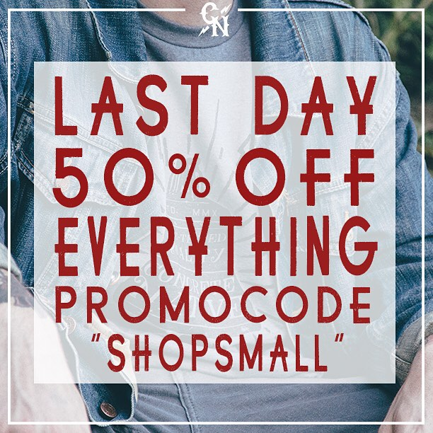 LAST DAY FOR 50% OFF EVERYTHING AT OUR ONLINE STORE! HEAD over to concretenative.com and get HALF OFF your ENTIRE order!!! #smallbizsat #blackfriday #cybermonday #sk8life #skatelife #skateboarding #longboard #longboardlife #deals #dealsondeals