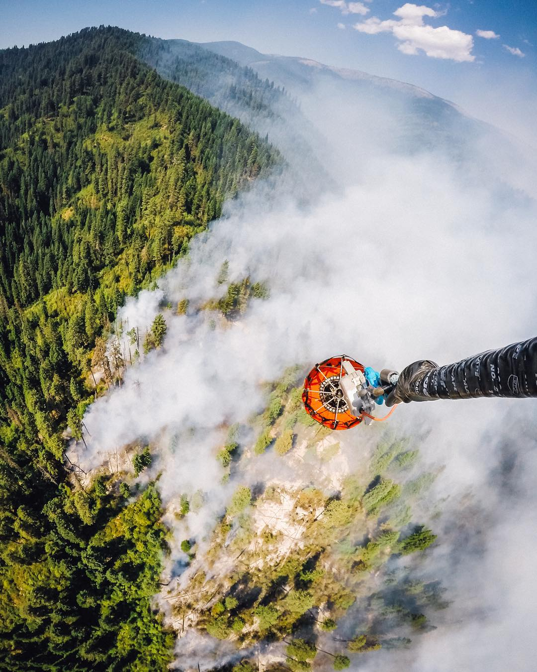 Photo of the Day! @jakeniece and his helicopter crew provide a unique perspective of firefighting. His crew was in the midst of a bucket drop mission over Nez Perce - Clearwater National Forest in Idaho. Your job take you off the beaten path? Share...