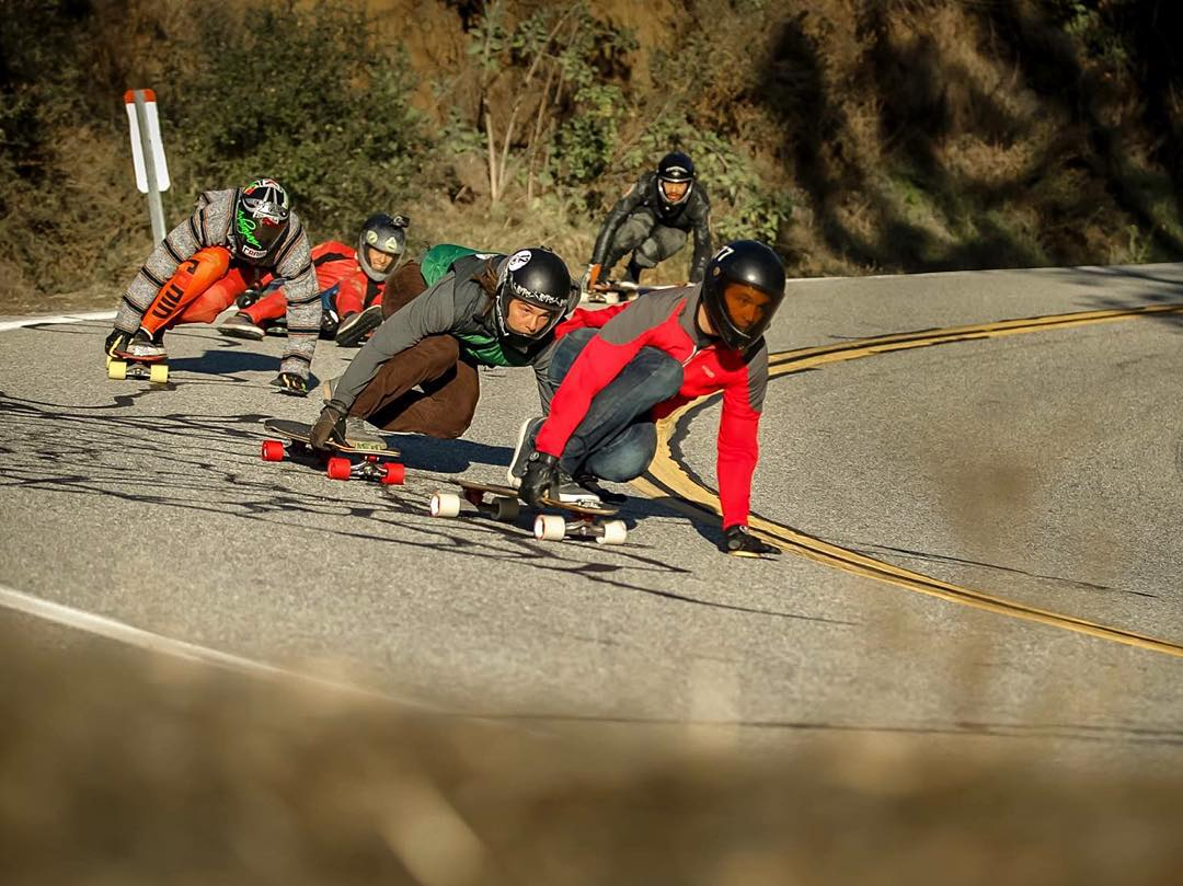 Out front, Nathan Marton (@nathanmarton) leads the pack at the annual turkey shoot skate session this year.