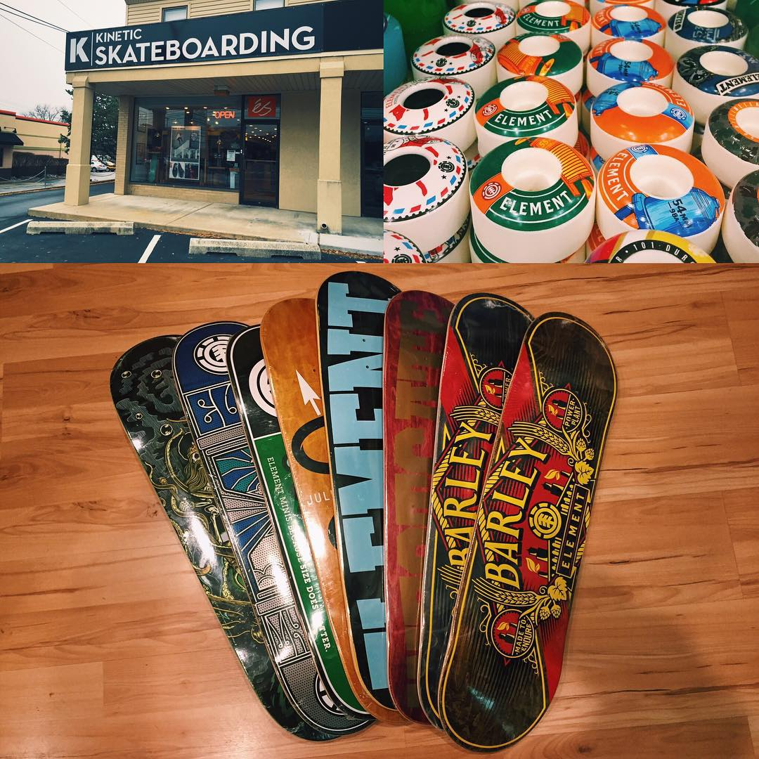 @kineticskateboarding is stocked up with a fresh supply of #elementskateboards just in time for the holidays.  View their feed for holiday specials! >>> #supportyourlocalskateshop
