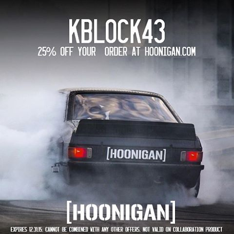 "@TheHoonigans and I would like to give you all 25% off your whole purchase at #HooniganDOTcom for the holidays - just enter the code ""KBLOCK43"" at checkout to apply the discount to your cart! #happyhoonidays"