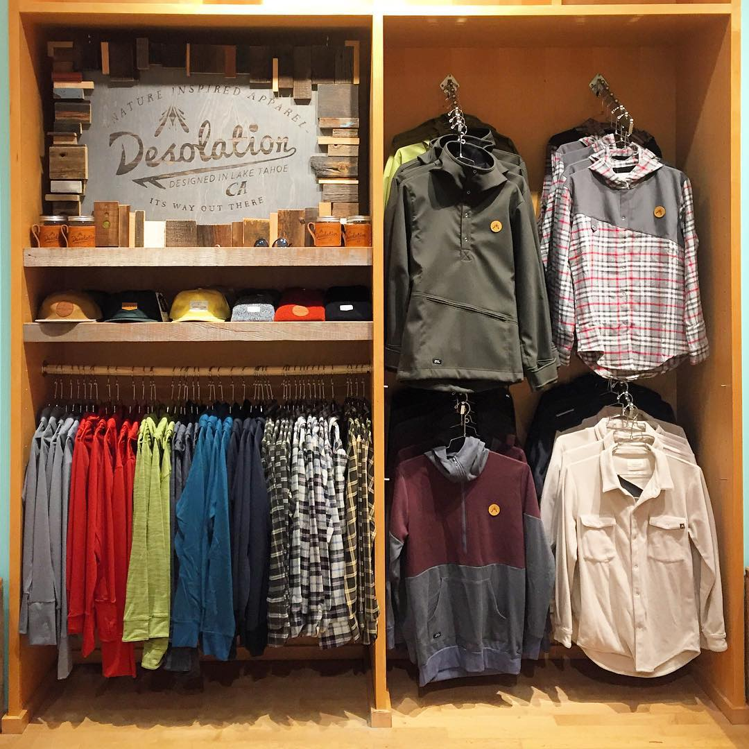 // SAN FRANCISCO // The latest offerings from our @desolationsupply label are now available at the Ocean Beach Outpost in the Stonestown Galleria.  _ #desosupplyco #itswayoutthere #madeinSF