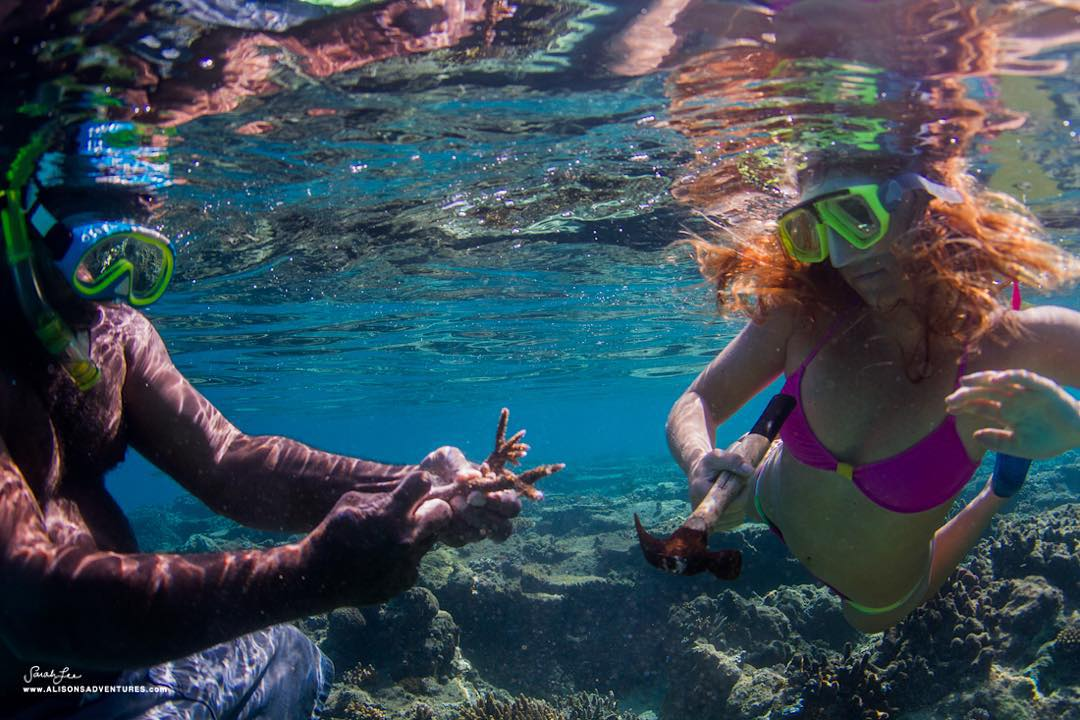 PLANTING CORAL with chief of the island of fire walkers in Fiji! As it gets to be holiday travel season in places like Hawaii & Fiji, the ocean begins to reek of TOXIC SUNSCREENS - which not only destroy our skin and actually cause cancer, but also...