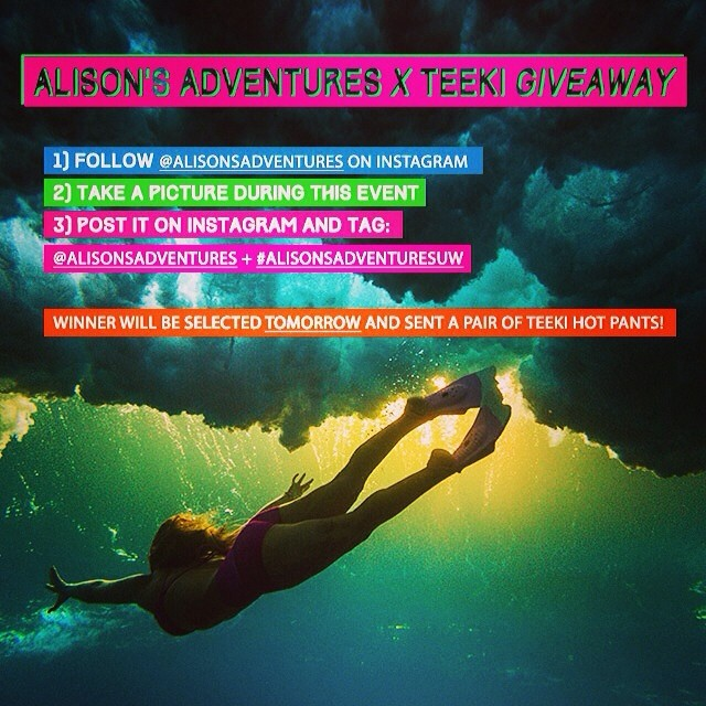 TONIGHT ONLY I'm doing an Alison's Adventures @teekigram eco tight give-away for all of those who come out to my screening tonight with @hisarahlee  #alisonsadventuresuw #uwpride #teeki