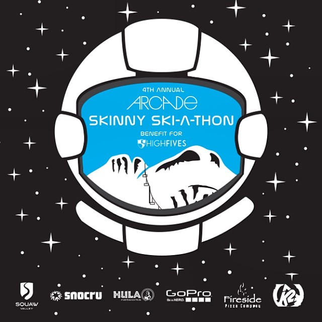 Its OFFICIAL! The 4th Annual SKINNY Ski-A-Thon presented by @arcadebelts is on Moday, March 31st at @squawvalley | Registration link in profile | #SkinnySkiAThon #High5ives