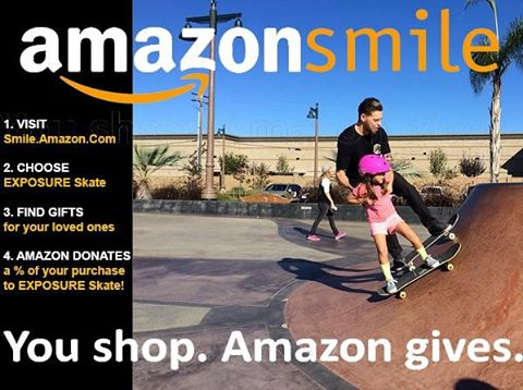 #CyberMonday shopping? Use Smile.Amazon.Com, Choose Exposure Skate and Amazon will donate a percentage of your purchase to EXPOSURE! Thank you @plg for helping to inspire the youth! Photo by @nealmims