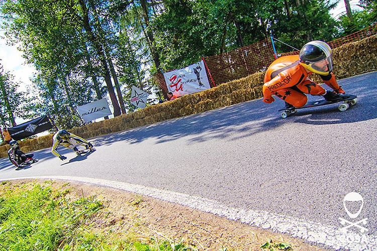 Team rider @niko_dh at #kozakovchallenge this summer . Photo @cgsa_downhill #predatorhelmets #downhill #dh6 #skateboarding