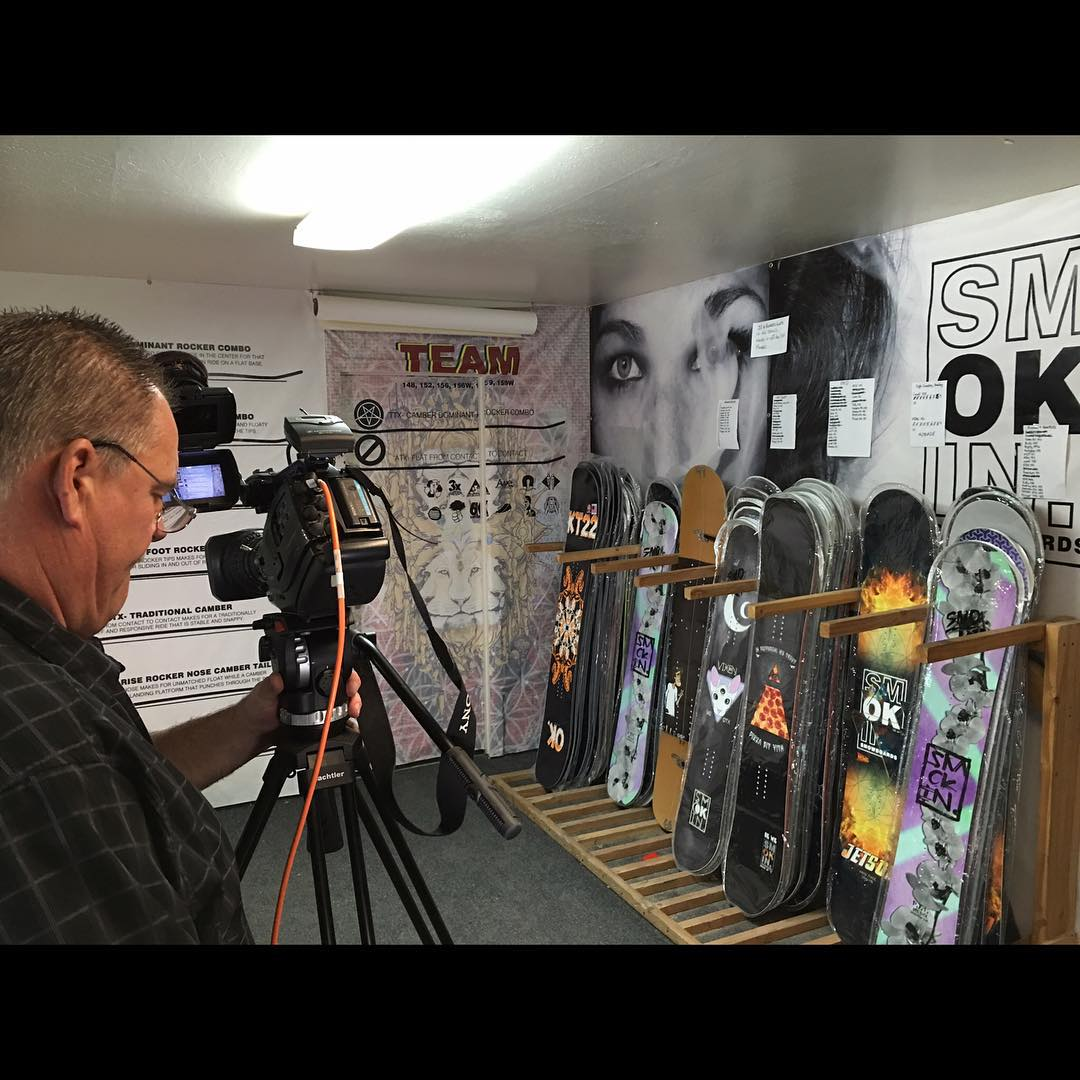 We're about to be live on @laketahoetelevision channel 12 in Tahoe , channel 192 in #reno  a little bit on Smokin Snowboards.  #weareOK |. #ForRidersByRiders | #handmadeUSA | #3yearwarranty