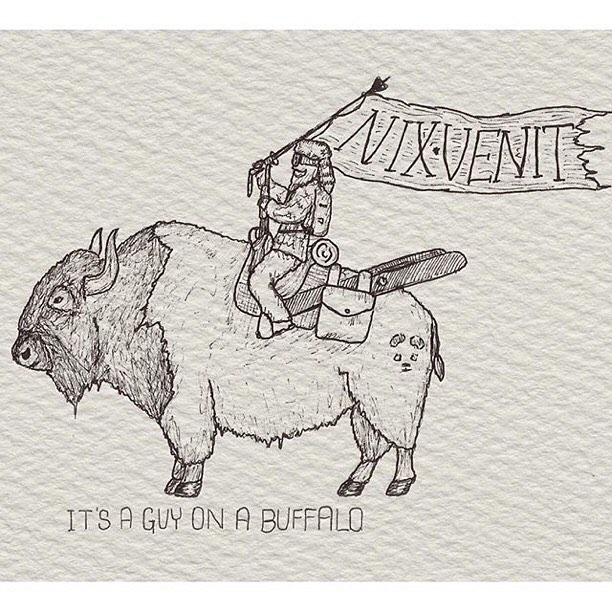 It's a guy on a buffalo... Wielding Panda Poles... #TribeUP!  Art: @cywhitling  #PandaPoles #PandaTribe