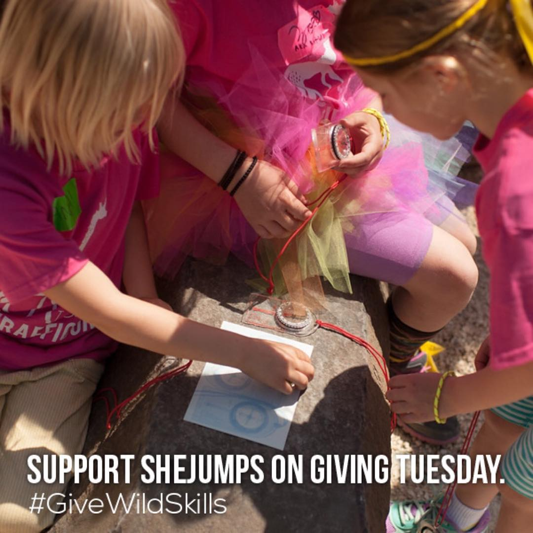 At #SheJumps, our mission is to increase participation of women and girls in outdoor activities. On this #GivingTuesday, we ask that you donate to this nonprofit to support our new program, Wild Skills-free day camps for girls under 18 to learn outdoor...