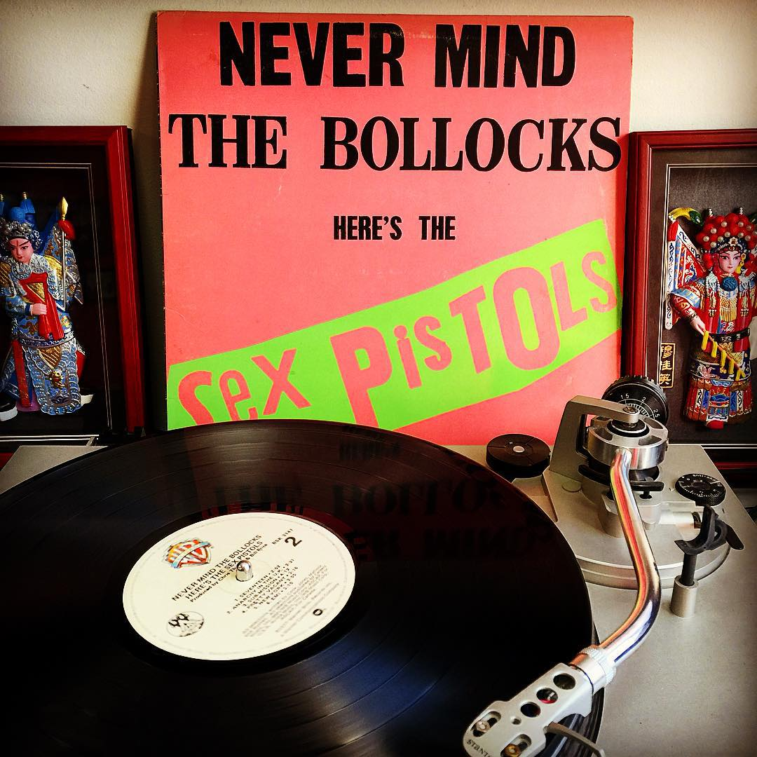 Turn it up and blow your speakers out! #NevermindTheBollocks by the #SexPistols is a timeless record when you're ready to get wild! #TurntableTuesday is off to a great start! #VonZipper #SupportWildLife