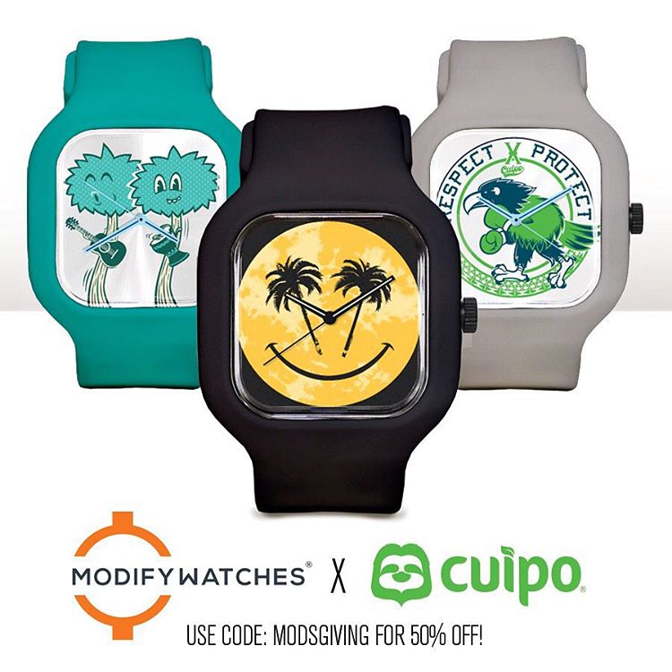 #CyberMonday might be over, but our friends over at @ModifyWatches are extending their 50% off #sale to today only with #promocode: MODSGIVING  Get your #ModifyWatches X #Cuipo now at www.modifywatches.com/collections/cuipo #SaveRainforest...