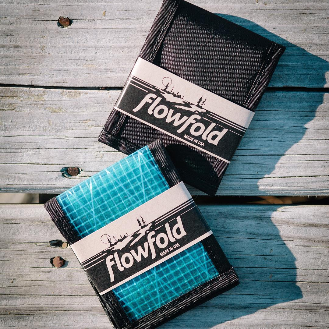 The #Flowfold Vanguard Ltd wallet in Jet Black and the Vanguard wallet in Cyan. Pick one for your pocket using the link in our profile.  Made in USA - Free domestic shipping - Lifetime warranty