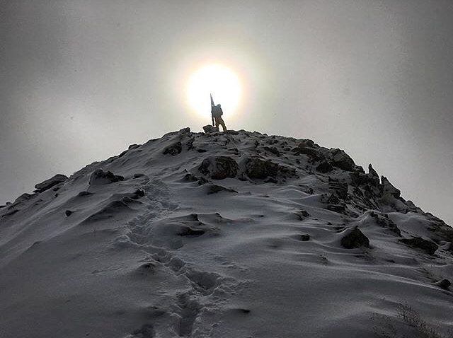 Winter. Commence. @aporzak1 sittin on Loveland Pass. #MHMgear #PacksElevated #backcountry #freeride #earnyourturns