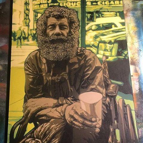 @g52cube • • 8 layer stencil on a @moosecanvas panel • • #atx #austintx #texas #tx #spratx #g52 #moosecanvas #art #stencil