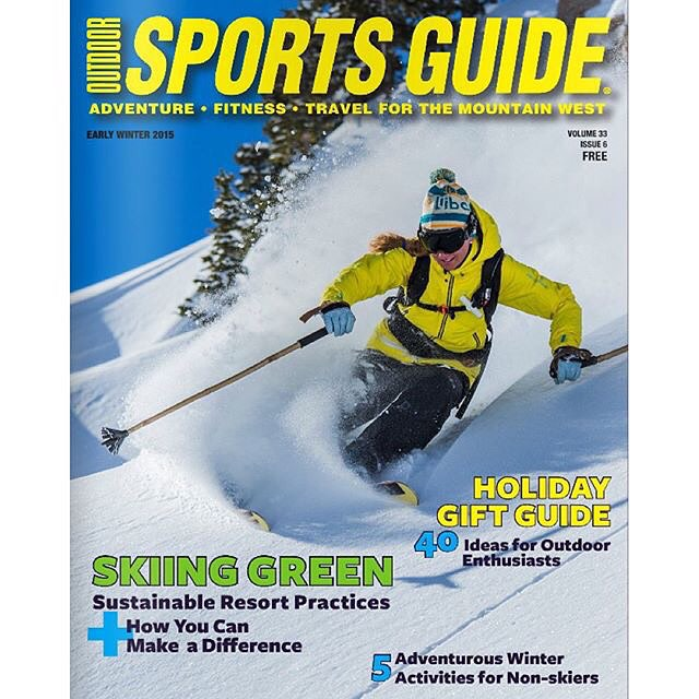 We just posted this photo last week, and now we find it on the cover of SLC's Outdoor Sports Guide!  BLAM!  Sending a massive shout out to Jacqueline Knutson and photographer Corey Kopischke for landing this amazing cover shot!  Repost:...