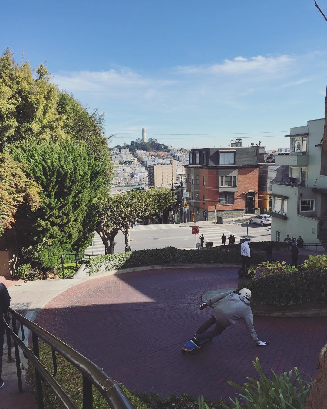 our dude @jordanriachi is in town and skating all the classics. #lombardstreet photo @liam_lbdr_