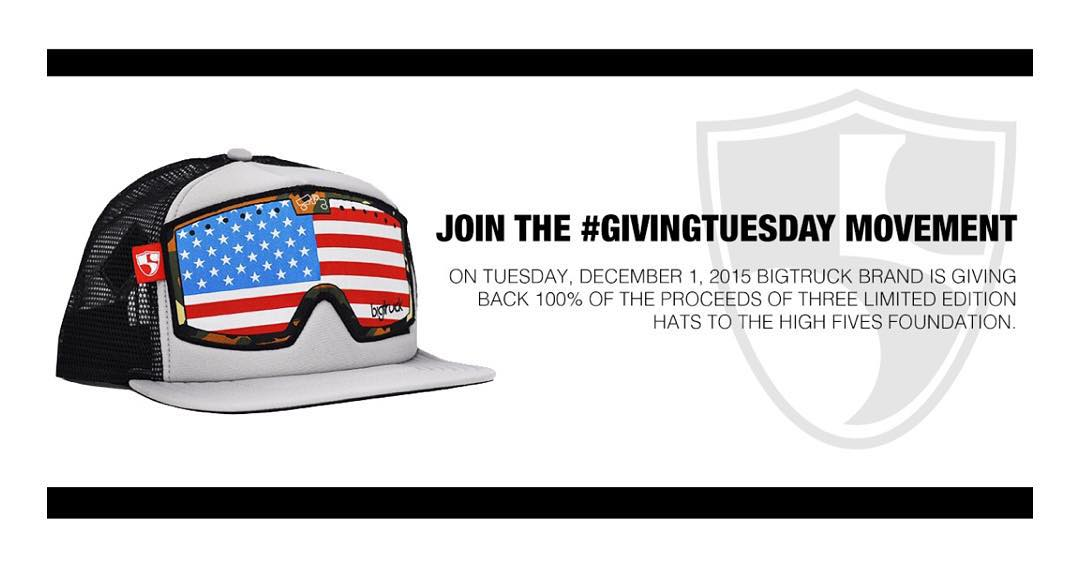 What is #GivingTuesday 2015?  It's a global day for giving back.  Fact: @bigtruckbrand loves the @hi5sfoundation (I love both). Second fact: today only, #BigTruck is giving back 100% of the proceeds from three limited edition hats to the...