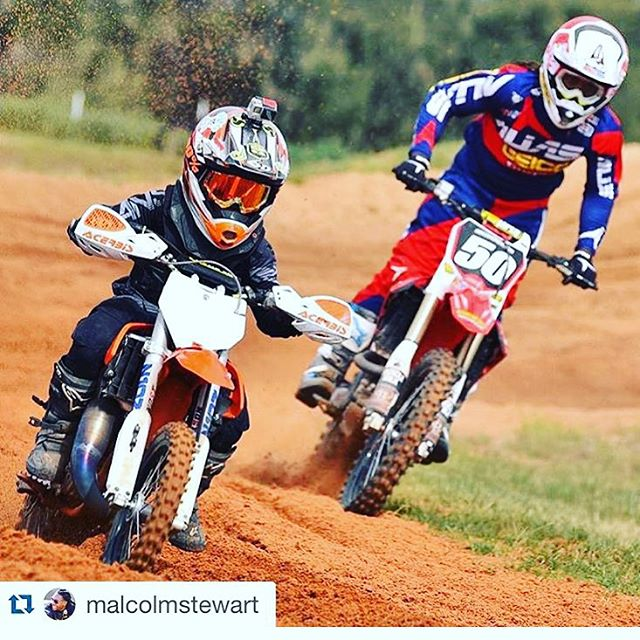 The kids love this dude. @malcolmstewart he is genuinely cool to the kids. Kids can sniff out fakes. He proves it's ok to have a personality and be fast . @dangerboydeegan was pumped to #ride with him @therealjs7 track. #dangerboyarmy #moto #motolife